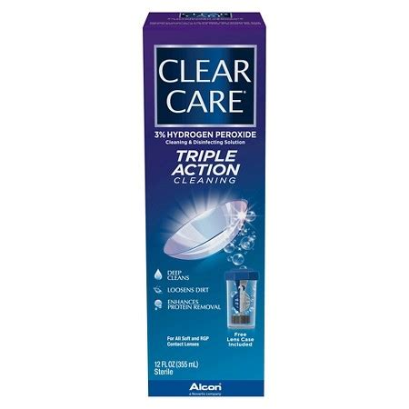 care and clean clear care triple action cleaning and disinfecting solution target