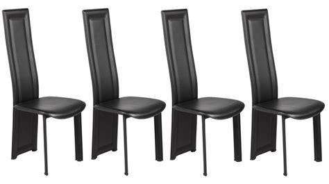 lot de 4 chaises en pvc noir pas cher chaise design