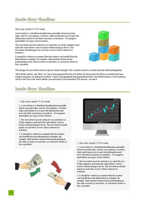 business newsletter  business newsletter templates