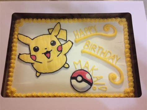 pikachu pokemon sheet cake  cakefully cake httpsm