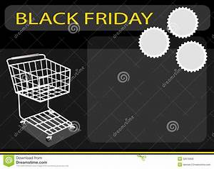 A Shopping Cart On Black Friday Background Stock Photo ...