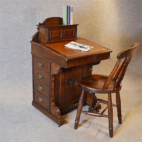 antique writing desk antique davenport desk oak pedestal