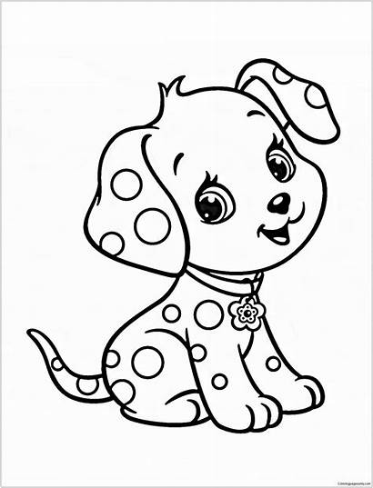 Coloring Puppy Pages Colouring Dogs Sheets Cartoon