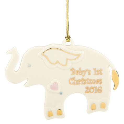 baby s first christmas ornament 2016 elephant lenox christmas ornaments