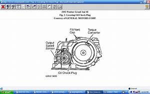 Where Do I Check Transmission Level At On An Automatic Transmission In A 2002 Pontiac Grand Am V