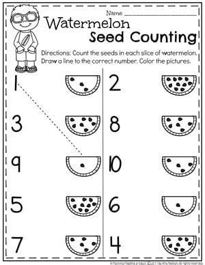 Summer Preschool Worksheets  Kinder  Pinterest  Worksheets, Count And Summer