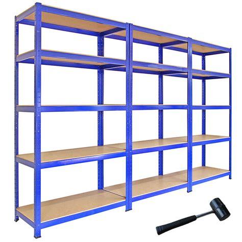 Garage Storage Racking Shelving by 3 Racking Bays 5tier Garage Shelving Unit Storage Racks