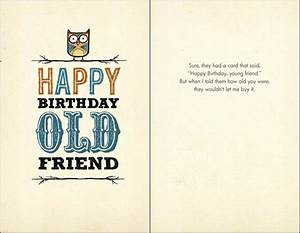 B-018 Happy Birthday, Old Friend. - Bald Guy Greetings