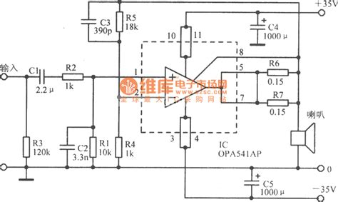 Opa Basic Application Circuit Diagram Audio