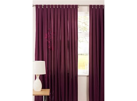 purple agapanthus tab top fully lined curtains dealbuyer