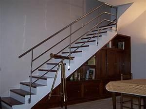 Rampe D Escalier Moderne : rampe d 39 escalier inox rs inox ~ Melissatoandfro.com Idées de Décoration