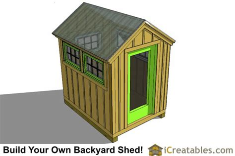 6x8 Storage Shed Plans by 6x8 Greenhouse Shed Plans Storage Shed Plans