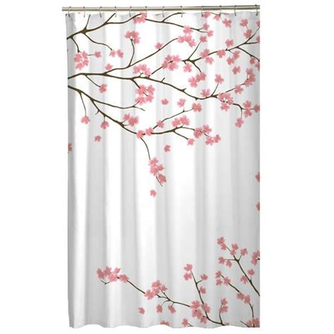 cherry blossom curtain panels floral pink cherry blossom asian fabric shower curtain