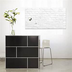 Tableau En Verre : tableau magn tique en verre artverum design b ton ~ Melissatoandfro.com Idées de Décoration