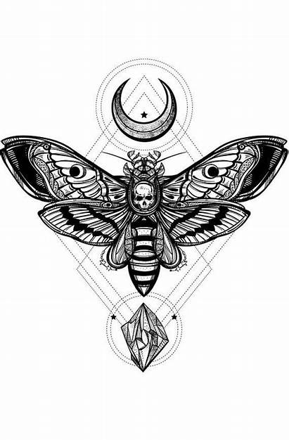 Moth Death Tattoo Silence Head Lambs Hawk