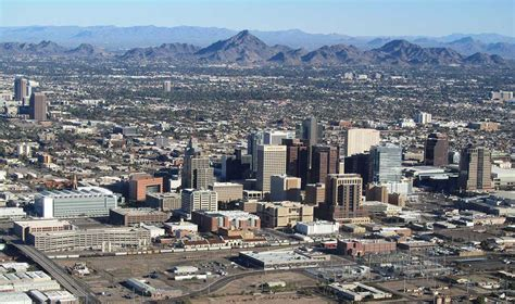 google map of the city of phoenix arizona usa nations
