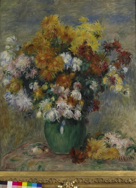 bouquet  chrysanthemums musee des beaux arts