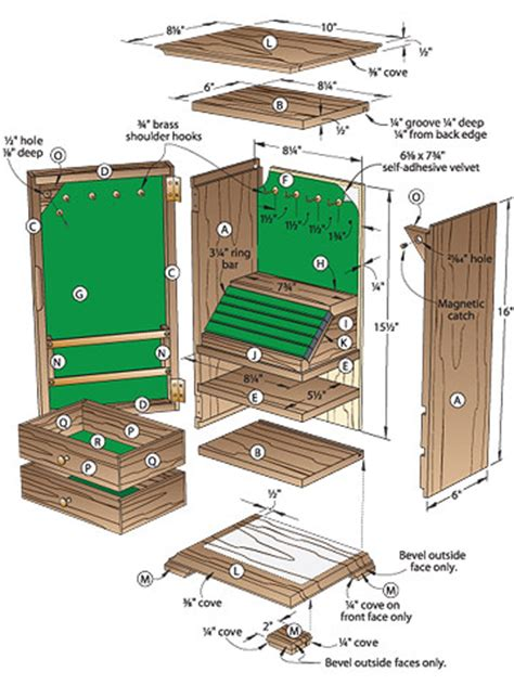 share plans    build  jewelry box  project  wood