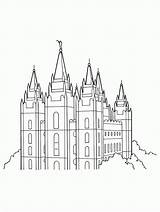 Lds Temple Coloring Clipart Salt Lake Church Drawing Simple Line Template Sketch Primary Outline Mobile Templates Tablet Vector Building Comments sketch template