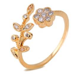 18k gold engagement rings fashion real 18k gold plated created jewelry engagement rings for resizable