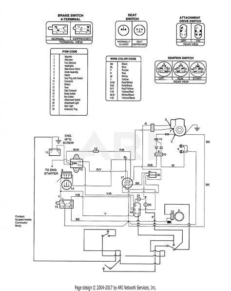 Troy Bilt Bronco Electrical Wiring Diagram by Troy Bilt 13123 14hp Hydrostatic Ltx Tractor S N