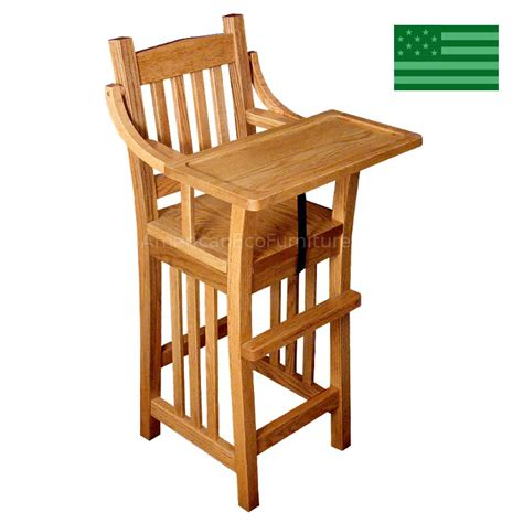 amish prairie mission baby high chair solid wood
