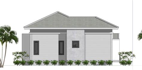 Small House Plans 7 5x11 with 2 Bedrooms Hip roof