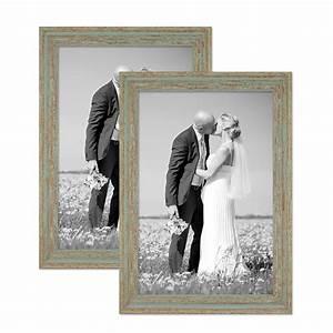 Bilderrahmen Vintage Set : 2er set vintage bilderrahmen 30x42 cm din a3 grau gr n shabby chic massivholz mit glasscheibe ~ Buech-reservation.com Haus und Dekorationen