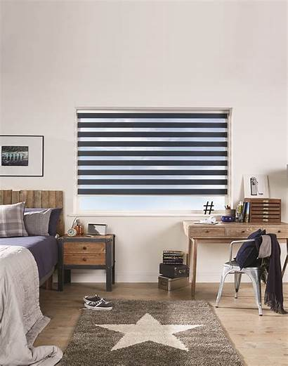 Blinds Vision Navy Blind Roller Louvolite Opaque