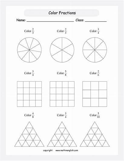 Fractions Worksheet Fraction Worksheets Shapes Printable Grade