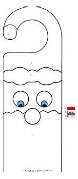 Coloring Printable Pages Door Christmas Hangers Santa Hanger Crafts Claus Decorations Activities Fastseoguru Doorknob Nursing Guardado Desde sketch template