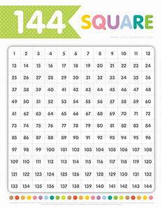 Multiplication Chart To 144 Little Graphics 144 Square Chart Free Download