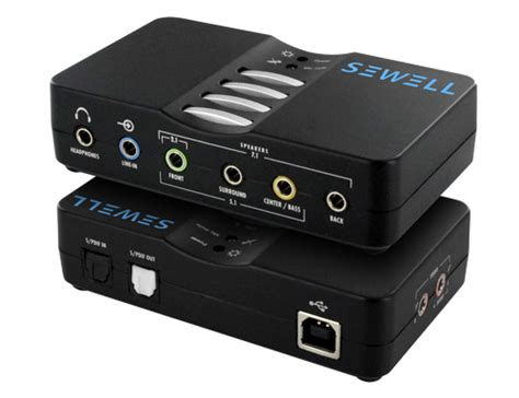 sewell soundbox external usb sound card 7 1 and 5 1 channel audio sewelldirect com
