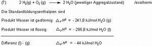 Molare Bildungsenthalpie Berechnen : prof blumes medienangebot energie und chemie ~ Themetempest.com Abrechnung