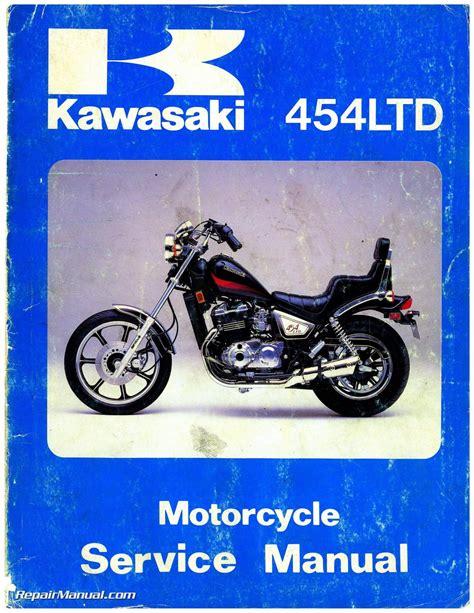 Kawasaki Motorcycle Service by 1984 Kawasaki En450a1 454 Ltd Motorcycle Service Manual
