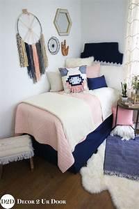 Pink Navy Boho Designer Dorm Bedding Set Magnolia Home