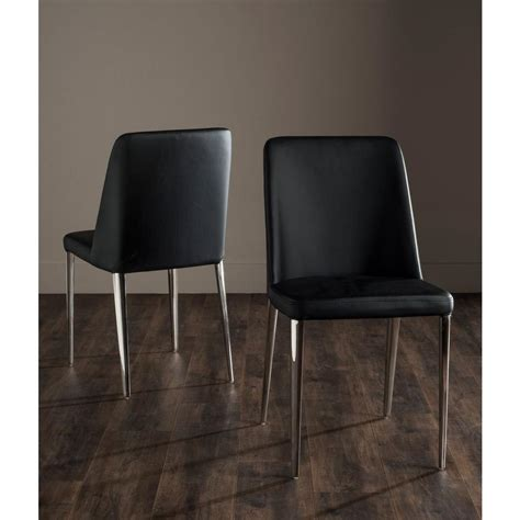 safavieh leather dining chairs safavieh baltic black bicast leather dining chair set of