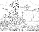 Goose Mother Coloring Printable Rhymes Nursery Source sketch template