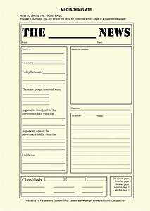 Blank newspaper article template for kids template for Free printable newspaper template for students