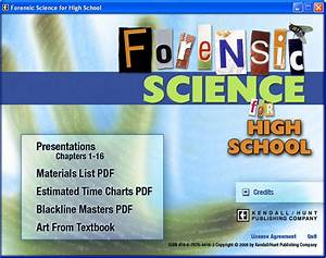 Complete Curriculum for High School Forensic Science ...