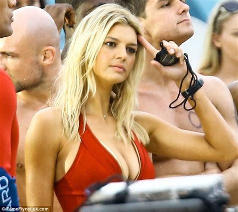 Kelly Rohrbach Sizzles In Red Swimsuit On Baywatch Remake