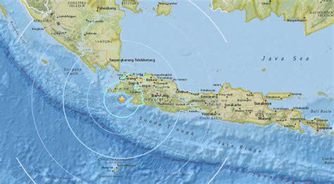 indonesia earthquake map magnitude  quake hits jakarta