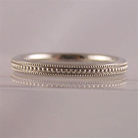 milgrain engraved detailing engagement wedding rings ring jewellery