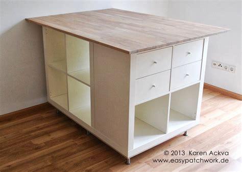 mobilier cuisine ikea une table de couture sur mesure avec kallax tables de couture ikea et table