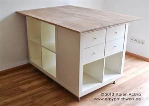 Créer Son Bureau Ikea : une table de couture sur mesure avec kallax chambre ~ Melissatoandfro.com Idées de Décoration