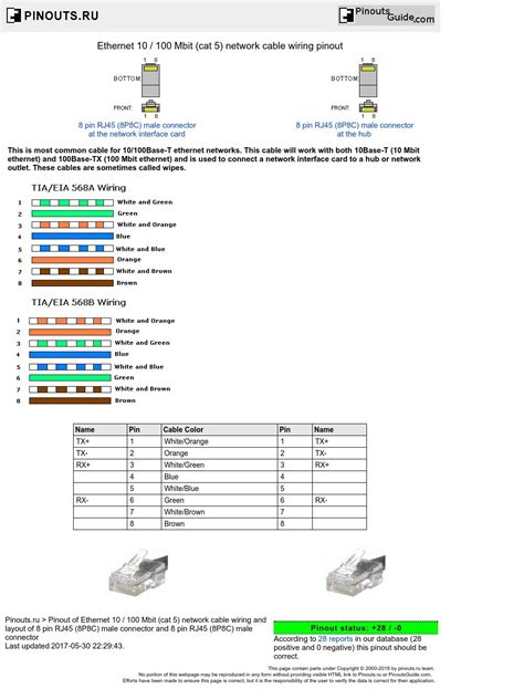Poe Cable Diagram by Ethernet 10 100 Mbit Cat 5 Network Cable Wiring