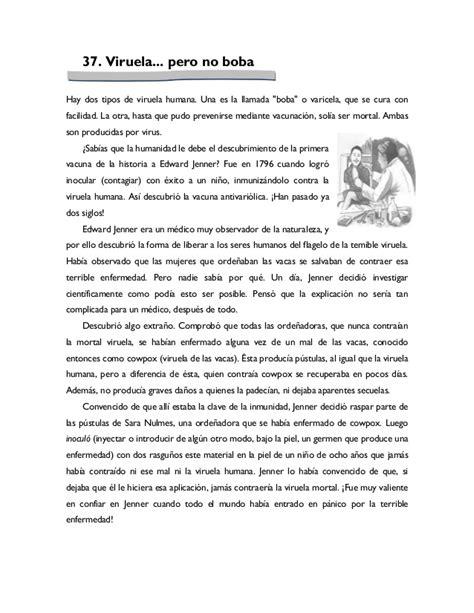 Antología De Lecturas Leemos Mejor Día A Día Quinto Grado
