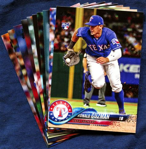 2018 Topps Update Texas Rangers Baseball Cards Team Set