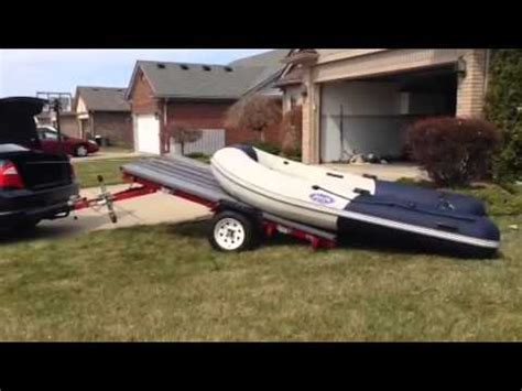 Electric Boat Winch Youtube by Inflatable Boat Trailer With Electric Winch Youtube