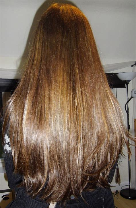 pale brown long layered hair   long hair